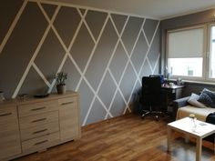 my living room wall   #stripes #wallstripes #tapedesign #30degreeangle