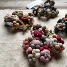 Sophie Digard brooches at Loop, London. Embroidery and Crochet magic.
