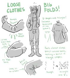 Drawing ref/inspo — Yo! Do you have any tips on drawing clothes folds...