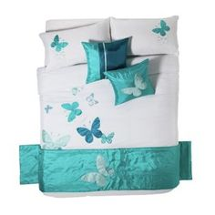 Buy Butterfly Blue Bed in a Bag - Double at Argos.co.uk - Your Online Shop for Duvet cover sets.
