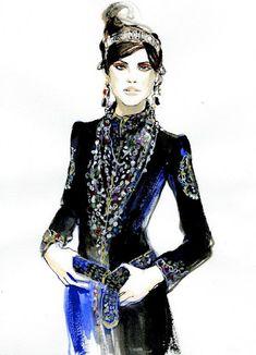 Regina Yazdi Illustrations Chanel Paris-Byzance