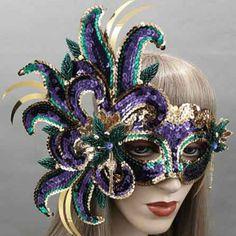 FuchsiaMardi GrasMasquerade Mask Thumb