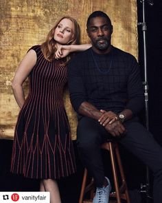 #Repost @vanityfair (@get_repost) ・・・ @JessicaChastain and @IdrisElba inside Vanity Fair's #TIFF2017 portrait studio. The talented duo star…