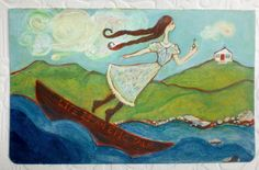 'Flying Girl Sails Rough Waters' by Rowena Murillo