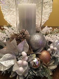 Festive Candle Holder Centerpiece 15 round x 13 tall - larger / different color by request