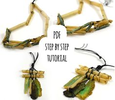 PDF tutorial: polymer clay indian necklaces