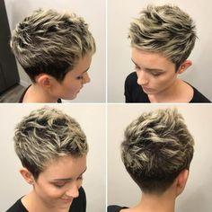 70 Overwhelming Ideas for Short Choppy Haircuts - Short Pixie Haircuts Short Choppy Haircuts, Short Hairstyles For Thick Hair, Haircut For Thick Hair, Pixie Hairstyles, Curly Hair Styles, Choppy Bangs, Super Short Hair Cuts, Braided Hairstyles, Wedding Hairstyles
