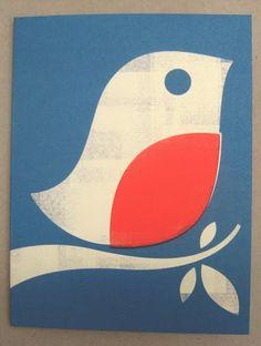 print & pattern: XMAS 2013 - marks & spencer part 1 Bird Patterns, Print Patterns, Linoprint, Linocut Prints, Xmas Cards, Bird Art, Folk Art, Screen Printing, Paper Art