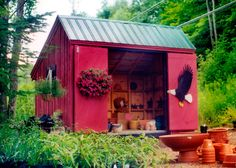 8x12 Saltbox Shed. Example shows optional sliding barn doors. Standard Plans $9.99, Kits - 2 people 28 hours + Fully Assembled in the northeast. Kits ship *Free in the continental US + eastern Canada. http://jamaicacottageshop.com/shop/salt-box-series-8x/ http://jamaicacottageshop.com/wp-content/uploads/pdfs/pdf8x12saltbox.pdf http://jamaicacottageshop.com/free-shipping/ #jamaicacottageshop #sheds #storage #gardensheds