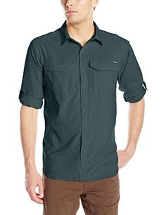 Columbia Mens Silver Ridge Lite Long Sleeve Shirt Night Shadow Medium     See this great 3ebe3f318d