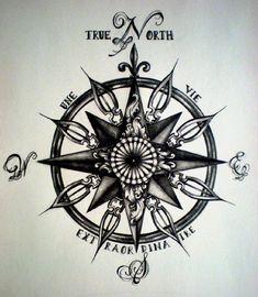 modèle tatouage Rose des vents homme - #363185 Plus