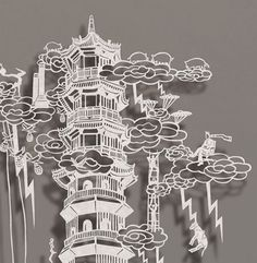 Cut Paper Art | Chinese Rice Paper Cutout Incredible Paper Map Cut By Hand Paper ...