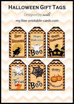 Free printable Halloween gift tags my-free-printable Printable Halloween, Feliz Halloween, Fröhliches Halloween, Halloween Labels, Holidays Halloween, Vintage Halloween, Halloween Teacher Gifts, Halloween Pumpkins, Halloween Costumes