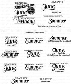 Birthday Classics: June Mini Stamp Set