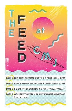 Poster for The Feed's CMJ schedule