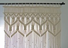 Custom Large Macrame Curtain made with Beige/Cream Cotton Rope. It can also be used as a room divider, or a wedding backdrop and it can be made for a