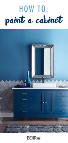 Color of the Month: Soft Focus – Colorfully, BEHR – Diy Bathroom Remodel İdeas Painting Bathroom Cabinets, Diy Bathroom Vanity, Bathroom Paint Colors, Modern Bathroom, Small Bathroom, Vanity Redo, Bathroom Wallpaper, Bathroom Ideas, Bathrooms Decor