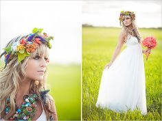 Florals by Fabloomosity www.fabloomosity.com boho chic bridal looks