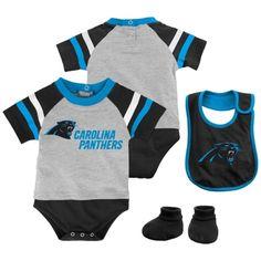Carolina Panthers Majestic Infant Little Player Creeper d8dd22453