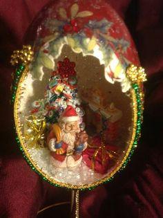 Egg shell Ornament www.spiritsinshells.com