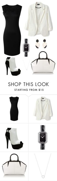 """black and white"" by emirdelic ❤ liked on Polyvore featuring Chanel, Alexander Wang, Tiffany & Co. and Marni"