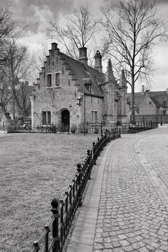 confinedlight: More Bruges, Belgium Black and white is so much more interesting sometimes.: