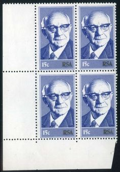 1975 South Africa inauguration Dr Diederichs stamp