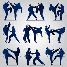 Karate. Making the gym. #karate #gym #graphics #silhouettes #decor #vector #freelancediscount Buy Image for $ 10