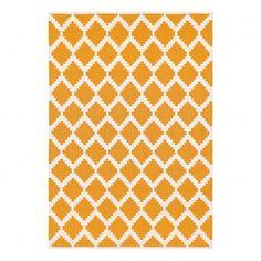 Teppich aus Baumwolle Siesta  Gelb  Liv Interior