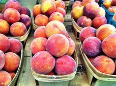 Fresh juicy WNC farmers market peaches