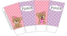 kit festa ursinha rosa grátis para imprimir Imprimibles Baby Shower, Baby Shawer, Party Themes, Teddy Bear, Stickers, Gifts, Alice, Printables, Party Planning