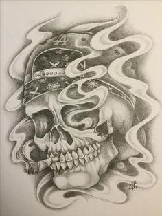 Evil Skull Tattoo, Evil Tattoos, Dope Tattoos, Baby Tattoos, Skull Tattoos, Tattos, Sleeve Tattoos, Sketch Tattoo Design, Tattoo Sketches
