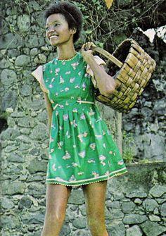 1972 summer fashion in Seventeen magazine.