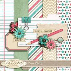 Quality DigiScrap Freebies: Exclusive! Dear Diary mini kit freebie from Digital Scrapbook Ingredients