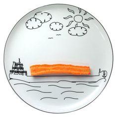 assiette Boguslaw Sliwinski bateau