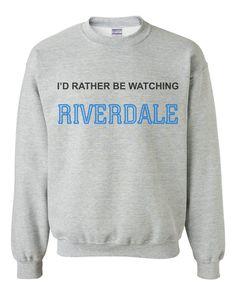 64ea43077d I d Rather be Watching Riverdale Unisex Crewneck Sweatshirt Adult. Riverdale  Shirts ...