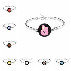 New Kpop BTS Bangtan Boys Army Fans Silver Bracelet Korean Fashion Women Girls Jewelry Jungkook Earrings, Bts Earrings, Small Gold Hoop Earrings, Small Gold Hoops, Bts Jimin, Bts Bangtan Boy, Colar Do Bts, Bts Bracelet, Shopping
