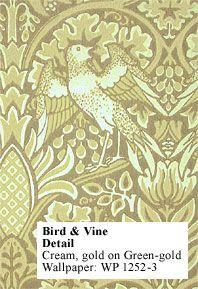 Historic Style - Bird & Vine Wallpaper by William MorriBird and Vine