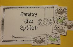 Teach and practice positional words with Sammy the Spider in this interactive emergent reader. One of the many activities in Octoberfest for kids! Pre-K-1