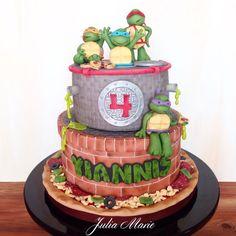 TMNT Cake - Cake by Julia Marie Cakes - CakesDecor