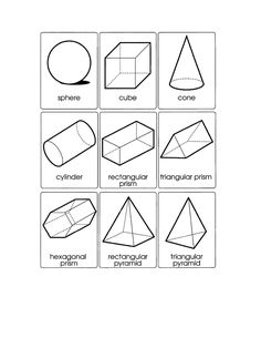 3d shape templates - Google Search