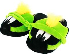 Looney Tunes Marvin the Martian Plush Slippers