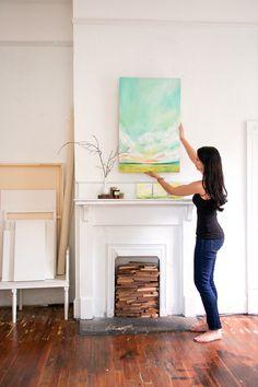 Emily Jeffords Studio.  Oil Painting