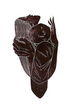 Masha Shishova Woodcut Linocut Blockprint | behance.net