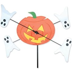 Pumpkin & Ghosts Whirligig Spinner from Just for Fun Flags. Pumpkins and Ghosts Whirligig Spinner from the Whirligig Spinners Collection by Premier. The lightweight SunTex fabric ghosts spin in even the lightest of breezes and are m Kite Designs, Cool Designs, Kites For Sale, Kitty Hawk Kites, Box Kite, Stunt Kite, Wind Sculptures, Pumpkin Jack, Wind Spinners
