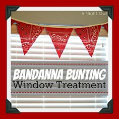 Bandanna Bunting Window Treatement for a Toy Story or Cowboy Themed Room
