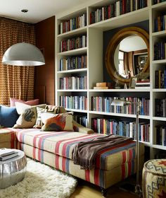 space saving room furniture placement ideas, putting bookcases and
