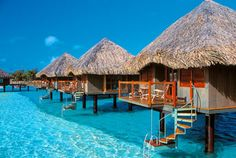 I am hoping our next exotic adventure will be here… the glass-bottomed tiki huts on the island of Bora Bora, Tahiti!! My dream vacation of romance and relaxation.