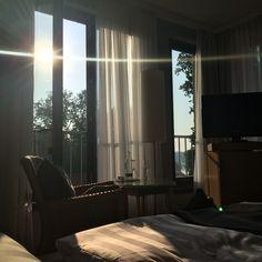 Ausblick aus dem Bett auf den Scharmützelsee