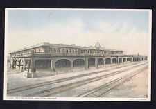 ASH FORK ARIZONA FRED HARVEY RAILROAD DEPOT TRAIN STATION VINTAGE POSTCARD